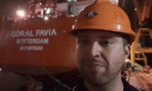 Netwerkinfrastructuur op gastanker